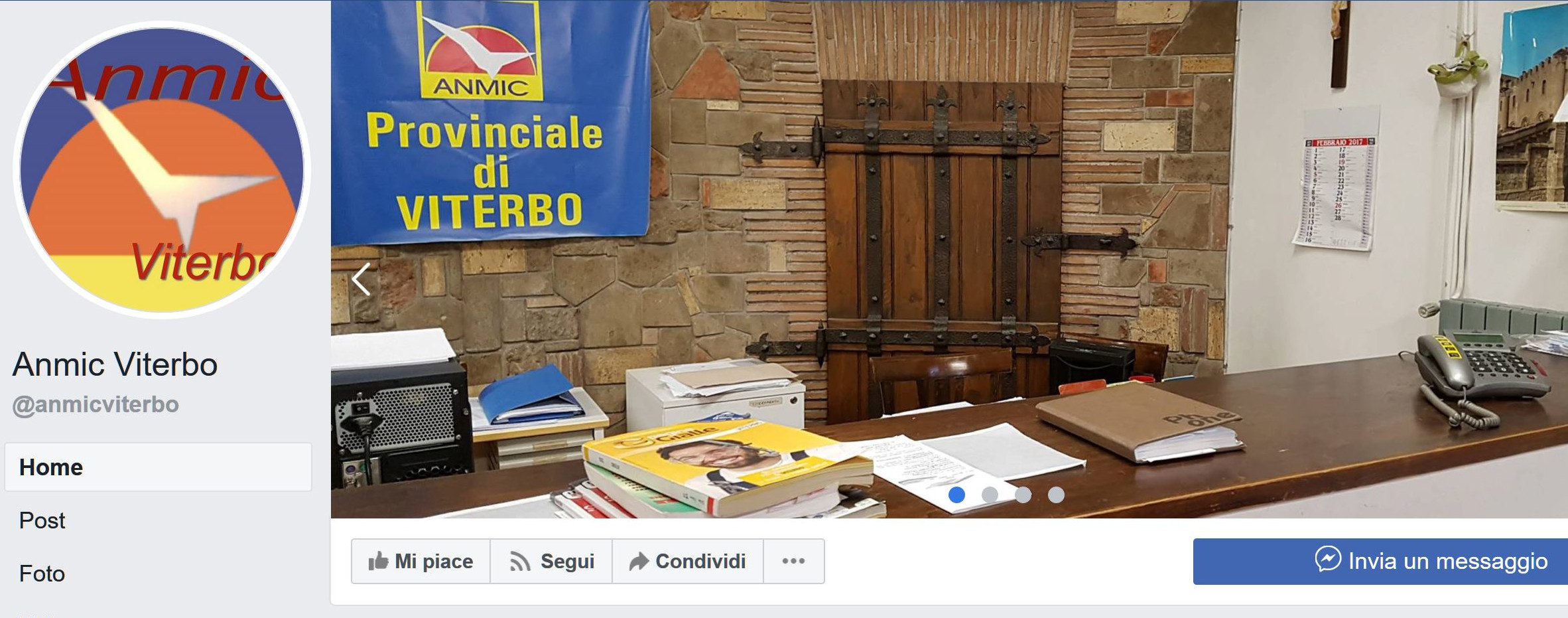 L'Anmic Viterbo su Facebook